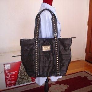 BETSEY JOHNSON Black Weekender Tote/Carry-All Bag